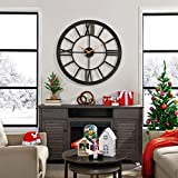 FirsTime & Co. Big Time Wall Clock, 40', Oil Rubbed Bronze