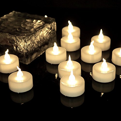 Flicker Timer Candle(6 Hours On 18 Hours Off Cycle) Small Electric Timed Led Flameless Unscented Fake Artificial Decorative Unique Votive Battery Tealight For Christmas New Year Candle,12 Pack, 1012T