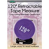 Sullivans 37268 Retractable Tape Measure, 120', Purple