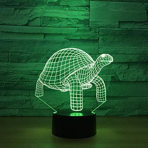 night light lamparas de escritorio Sealwolf g Turtle @BaC Carga por USB del tacto de 7 colores del partido de la fiesta de la decoración del regalo de cumpleaños de los niños