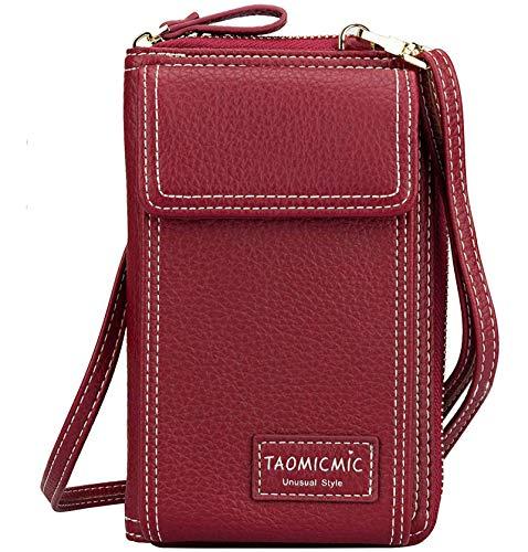 Damen Crossbody Handytasche Kleine Schultertasche Leder Reise RFID-Karten-Geldbörse Handtasche Handytasche Baggap Clutch für iPhone 11 SE 2020 11 Pro Xr X Xs Max 8/7/6 Plus Samsung