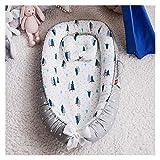Witou 85 * 50cm Cama de Nido de bebé con Almohada Cuna portátil Cama de Viaje Bebé Niño Cuna de algodón Imitación Uterine Cama Cuna Parachoques, Silla de balanceo (Color : B)