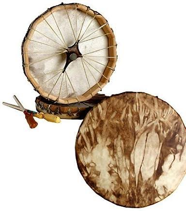 """Native American Deer Hide Frame Drum 13"""""""
