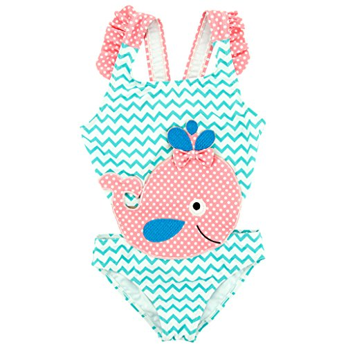 Gogokids Traje de Baño para Niñas - Ropa de Baño Ropa de Natación Volantes Ropa de Playa Tankini Bikini Conjunto 1-6 Años