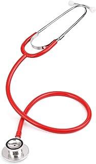 WanXingY Estetoscopio de Doble Cabeza portátil Cardiología Profesional Equipo médico Equipo de Equipo Veterinario de la Enfermera médico Estetoscopio médico (Color : Red)