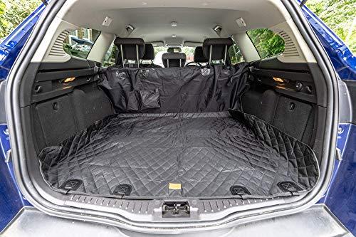 Thepeco Autositzbezug, ideal für Hunde und Welpen, bequem, langlebig, leicht zu reinigen, für Familienautos und SUVs, inkl. Tasche und Gürtel