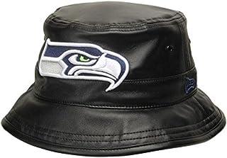 New Era New Era Seattle Seahawks Black Faux Leather Bucket Hat 帽子 【並行輸入品】