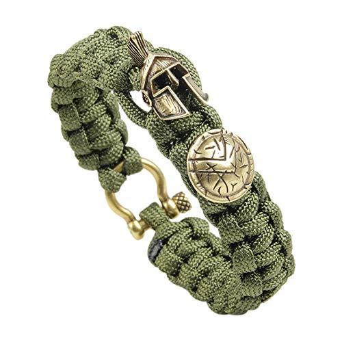 WDAIJY Bracelet Femme,La Survie en Plein Air Hommes Casque Warrior Bracelet Pulseira De Corde Bracelets Parapluie Cadeaux Bracelet Corde Chers