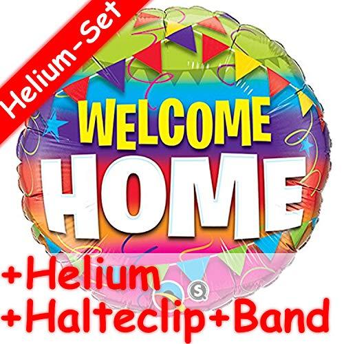 Carpeta Folieballonset, Welcome Home, heliumvulling, houder-clip en band, welkom thuis, ballon, opgeblazen decoratie