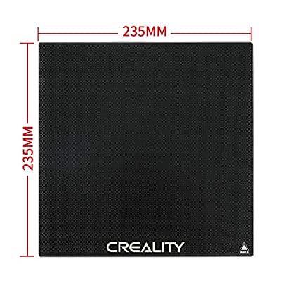 Creality 3D Printer Ender 3 Hotbed Glass Build Plate 235x235x3mm for Ender 3 Pro, Ender 5 Heated Bed Platform Surface