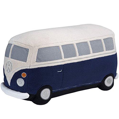 Volkswagen 211087511B Plüschauto Bulli T1, Dunkelblau/Beige