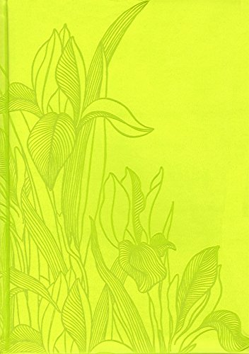 Pierre Belvedere Iris Collection Large Hardcover Notebook with Padded Embossed Cover, Chartreuse (7706330)