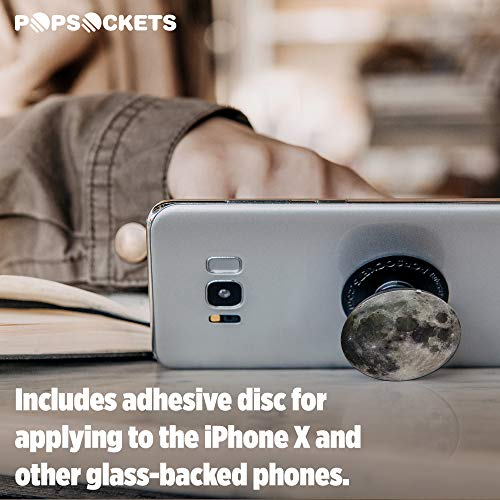 PopSockets: Collapsible Grip & Stand for Phones and Tablets – Moon - 7