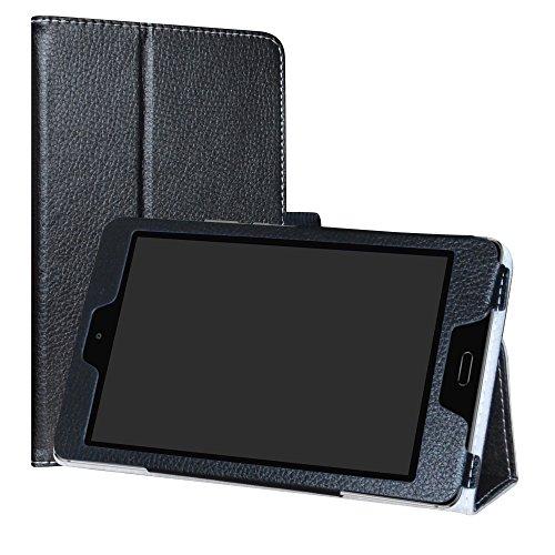Labanema MediaPad M3 Lite 8.0 Hülle, Slim Fit Folio PU Leder dünne Kunstleder Schutzhülle Cover Schale Etui Tasche für Huawei MediaPad M3 Lite 8.0 Zoll Tablet - Schwarz