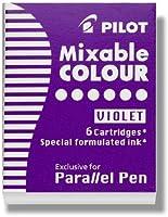 (Pack of 6 & Purple) - Pilot Parallel Pen Ink Refills for Calligraphy Pens, Purple, 6 Cartridges per Pack (77309)