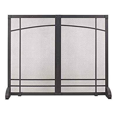 Pleasant Hearth Amherst Fireplace Screen, Iron Black by GHP Group, Inc.