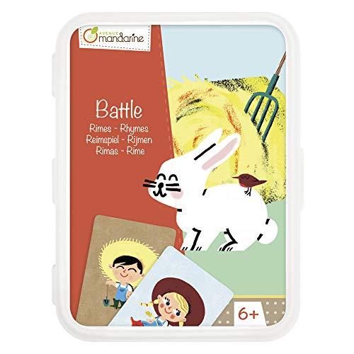 Avenue Mandarine CO103O - Un jeu de 42 cartes Battle en boite plastique refermable