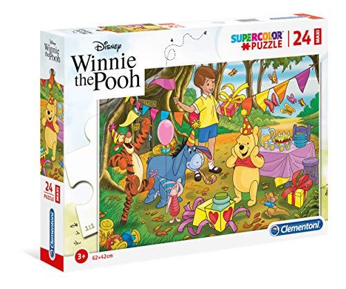 Clementoni-Clementoni-24201-Supercolor Puzzle-Winnie The Pooh-24 Maxi Pezzi-Disney, Multicolore, 24201