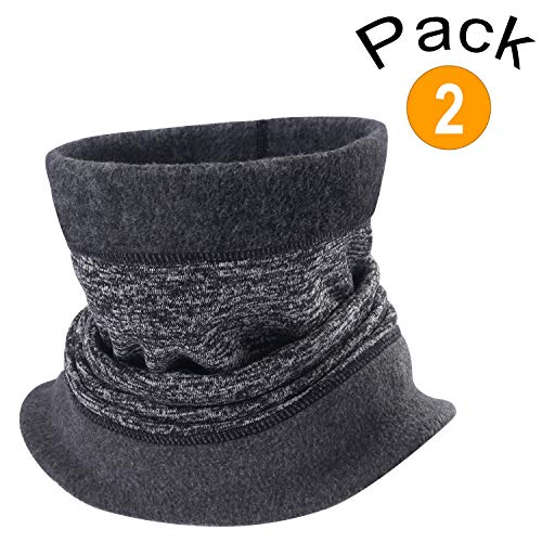AIWOLU Winter Neck Gaiter Warmer-Knit Thicken Windproof and Dust Skiing Scarf Face Mask