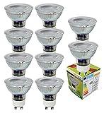 Trango 10 pacco GU10 Lampadina a LED 10TGGU10COB5 3000K warmwhite per lampadine alogene di ricambio GU10 e MR16, per apparecchi da incasso, faretti a soffitto, faretti da incasso, plafoniera, faretti