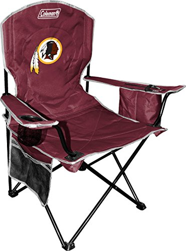 Coleman NFL Cooler Quad Folding Tailgating & Camping Chair with Built in Cooler and Carrying Case, Washington Redskins