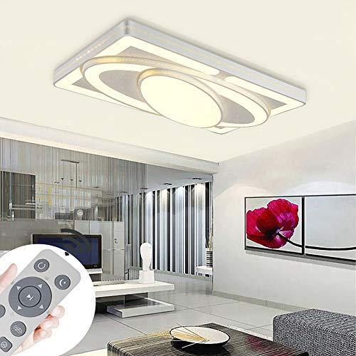 Deckenlampe LED Deckenleuchte 78W Wohnzimmer Lampe Modern Deckenleuchten Kueche Badezimmer Flur Schlafzimmer (Weiß, 78W-Dimmbar)