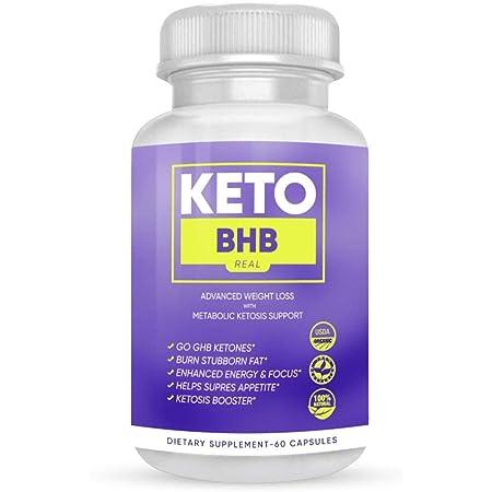 Keto BHB Real Capsules - Keto BHB Capsules for Weight Loss - Keto BHB Advanced Weight Loss Formula (60 Capsules, 1 Month Supply)