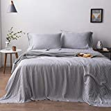 Oasis Fine Linens Island Bamboo Collection (California King, Charcoal Stripe)