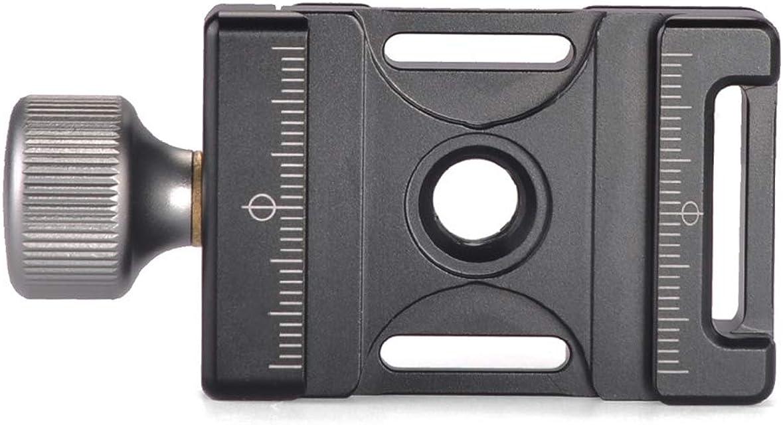Andoer - Mini Abrazadera de Aluminio Ajustable y de liberación rápida Compatible con Arca Swiss para Placa QR 38mm