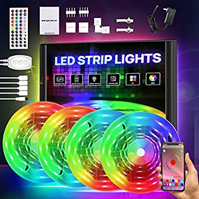 Smart LED Strip Lights 65.6ft, RGB Light Strip ...