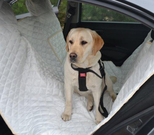 tierlando Autoschondecke MAX Auto Hundedecke Schutzdecke 160 180 200cm x 140cm Größe: SM 200 cm | Farbe: 05 Creme
