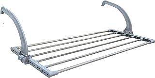 EYEPOWER Tendedero 82x32x20,5cm Plegable Ajustable para Colgar en el radiador balcón baño y secar Tender Toallas Colada Ropa de Acero Inoxidable Gris