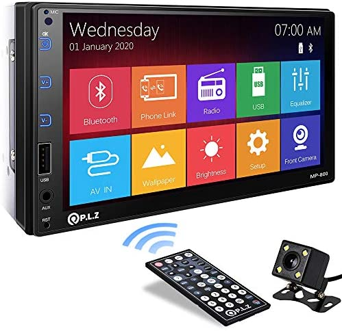 P L Z MP 800 Car Entertainment Multimedia System 7 Inch Double Din HD Touchscreen Monitor Car product image