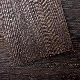 Art3d Peel and Stick Floor Tile Vinyl Wood Plank 54 Sq.Ft, Brown Stone, Rigid Surface Hard Core Easy DIY Self-Adhesive Flooring