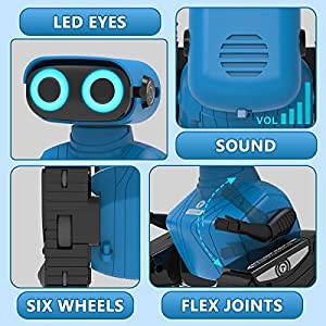 REMOKING RC Robot Toy, Educational Learning 2.4Ghz Remote Control Robot Toy, Interactive Novelty Design Robot Toy…