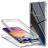 Funda para Samsung Galaxy A50/ Samsung Galaxy A30S, Transparente TPU Silicona 360 Grados Ultra-Delgado Resistente Anti-Arañazos Anti-Choques Doble Cara Protectora Delantera Trasera Carcasa