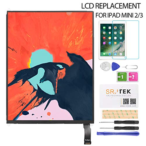 LCD Display Screen Replacement for iPad Mini 2 3 A1489 A1490 A1491 A1599 A1560 LCD Panel Repair Parts Kit,Include Tempered Glass 7.9''