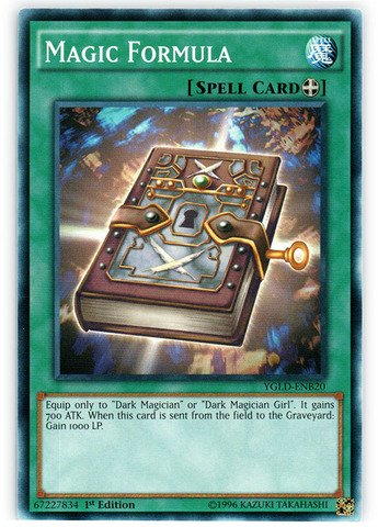 YU-GI-OH! - Magic Formula (YGLD-ENB20) - Yugi's Legendary Decks - 1st Edition - Common