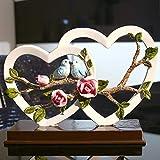HandWerk Dekoration Wohnzimmer Harz Skulptur TV Schrank Kreative Einrichtungsgegenstände Geschenk Ornamente Verlobung Hochzeitsgeschenke High-end Praktische Möbel