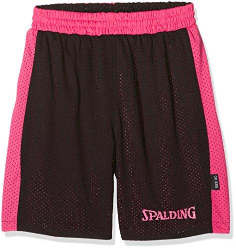 Spalding Jungen Essential Reversible Shorts, Mehrfarbig  (Schwarz/Pink), 164