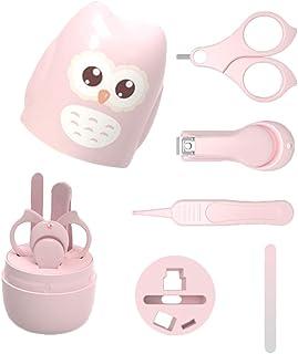 lovefei - Kit de 4 en 1 para uñas de bebé con bonita caja de búho, cortauñas de bebé, tijeras, lima de uñas y pinzas, kit de manicura para bebé pedicura