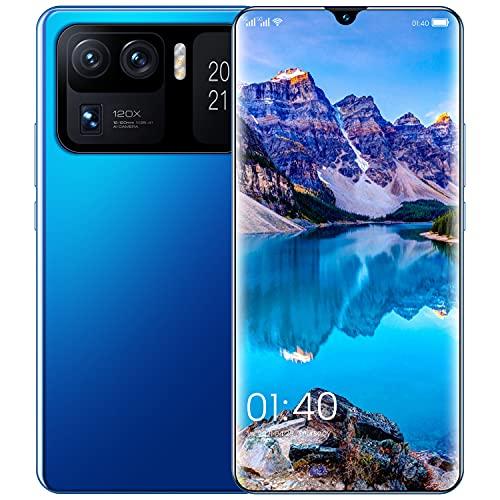 LINGZE Teléfonos móviles desbloqueados, Tarjetas SIM Dobles, teléfonos Inteligentes Android, 7.0 Pulgadas 7200mAh, teléfonos celulares Face ID, Azul