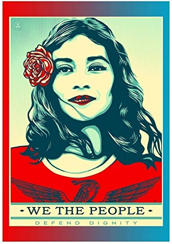 Poster Shepard Fairey we the people defend dignity 30,5 x 45,7 cm