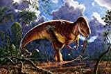 DIY Paint-by-Numbers Megalosaurus by The River Oil Painting Kits Color Talk Canvas Home Wall Decor for Adults Beginner 16X20 Inch (Frameless)