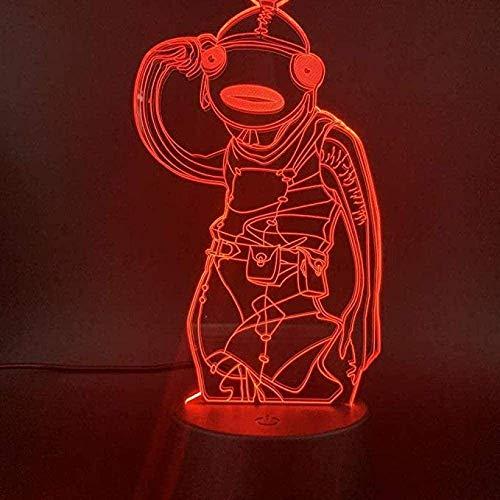 3D LED Nachtlicht ecor Lampe mit Fernbedienung und Touch-Steuerung mit Geschenkbox für 1 2 3 4 5 6 7 10 Jahre alte Jungen Mädchen Kinder Fortnite Murloc Leviathan