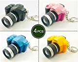 Assho LED Camera Design Keychains with sound flashlight Cartoon child Toy Bag-4 pack