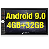 PUMPKIN Android 8.0 Autoradio Moniceiver mit GPS Navi Unterstützt Bluetooth DAB + USB Android Auto MicroSD 2 Din 7 Zoll Bildschirm