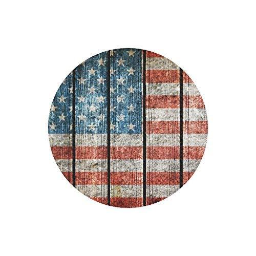 Vintage USA Flagge Holz amerikanische Flagge Runde rutschfeste Gummi Mousepad, Gaming Mouse Pad Maus Matte für Office Home Frau Mann Mitarbeiter Chef Arbeit