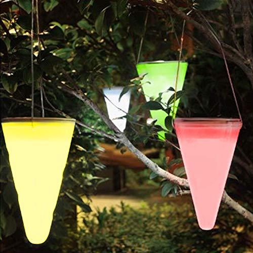 Solalite Lot de 3 lampes LED solaire jardin extérieur à suspendre Arbre Cône Cornet à couleur changeante