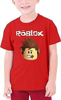 Ro-blox Youth T-Shirt Cotton Short Sleeve Shirt Graphic Tee for Boys Girls